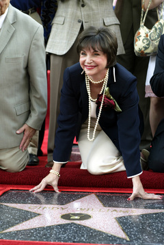 Cindy Williams  sur son étoile à Hollywood