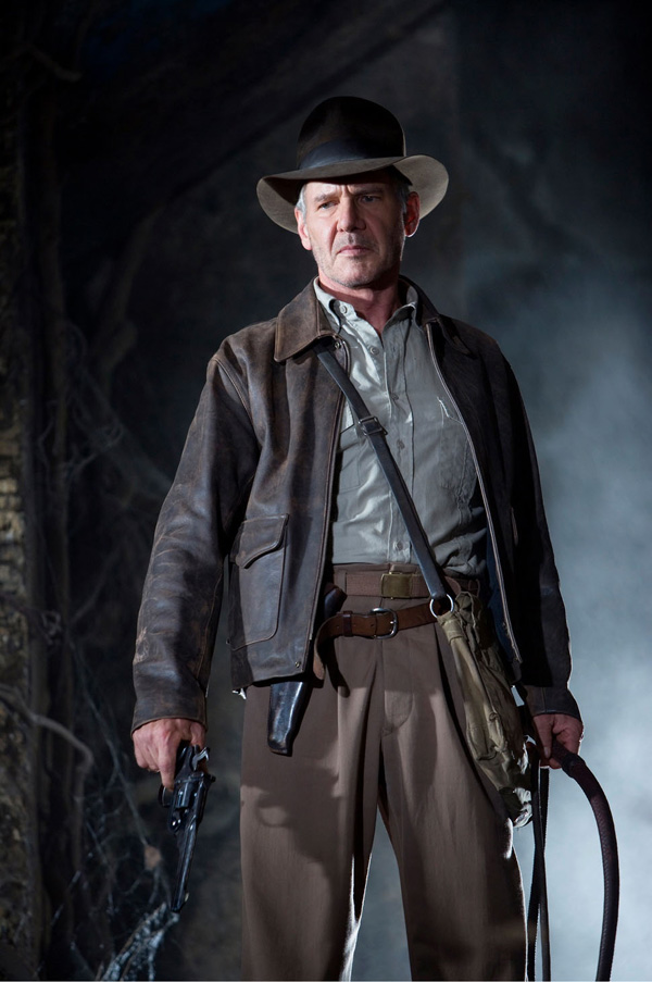 Harrison Ford sous son costume d'Indiana Jones