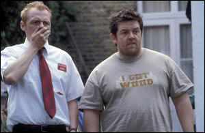 Simon Pegg et Nick Frost dans Shaun of the dead