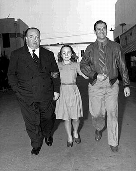 Alfred Hitchcock, Patricia Hitchcock et Robert Cummings