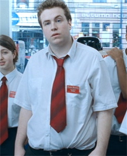 Rafe Spall dans Shaun of the dead
