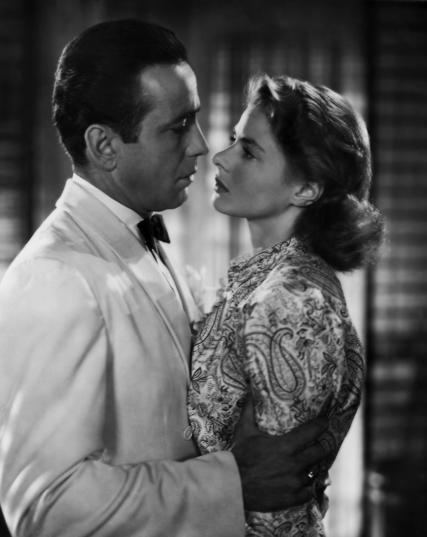 le couple mythique de Casablanca: Humphrey Bogart et Ingrid Bergman