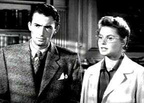 le docteur (Ingrid Bergman) et son patient (Gregory Peck)