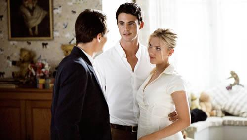 Jonathan Rhys Meyers, Matthew Goode et Scarlett Johansson dans Match Point