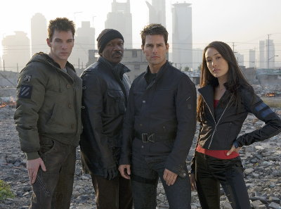 Jonathan Rhys Meyers, ving Rhames, Tom Cruise et MAggie Q dans Mission: Impossible III