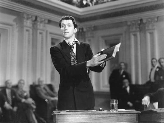 Incroyable James Stewart dans Mr Smith au sénat, de Frank Capra