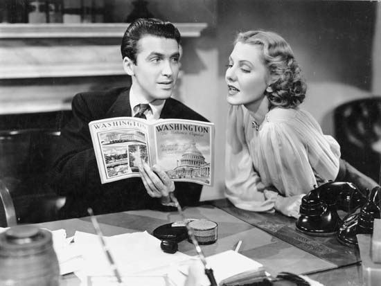 James Stewart et Jean Arthur dans Mr Smith au sénat