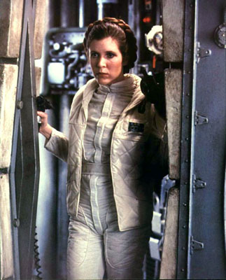 Leia (Carrie Fisher) dans l'Empire contre-attaque