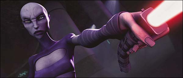Asajj Ventress dans Star Wars: The Clone Wars de  Dave Filoni