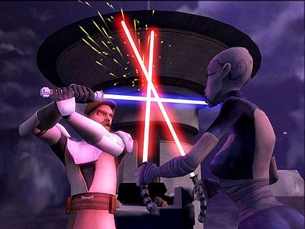 Prises avec ventress dans star wars: the clone wars, de dave filoni